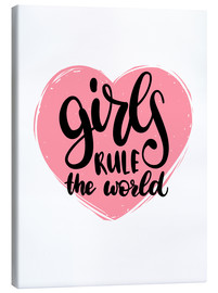 Lienzo  Girls rule the world - Typobox