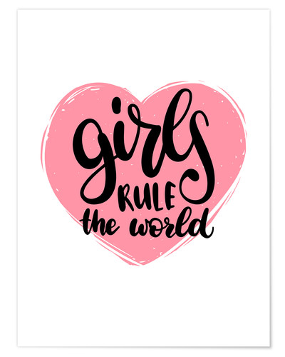 Póster Girls rule the world