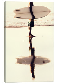 Lienzo  Surfer reflection