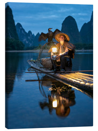 Lienzo  Old cormorant fisherman in Guilin, China - Jan Christopher Becke