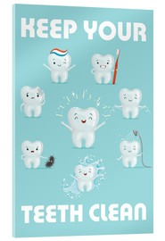 Cuadro de metacrilato  Keep your teeth clean - Kidz Collection