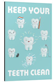 Cuadro de aluminio  Keep your teeth clean - Kidz Collection