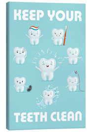Lienzo  Keep your teeth clean - Kidz Collection
