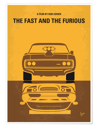 Póster Fast and Furious (inglés)