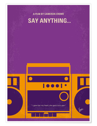Póster Say Anything...