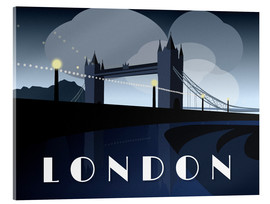 Cuadro de metacrilato  London Tower Bridge Art Deco style - Alex Saberi