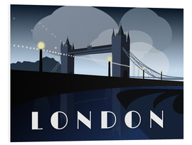 Cuadro de PVC  London Tower Bridge Art Deco style - Alex Saberi