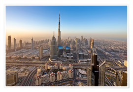 Póster  Sunrise at Dubai City - Dieter Meyrl