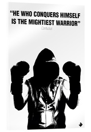 Cuadro de metacrilato  WARRIOR Motivational Quotes - Paola Morpheus