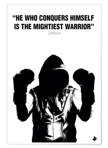 Póster WARRIOR Motivational Quotes