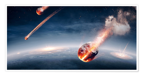 Póster Meteorites on their way to earth