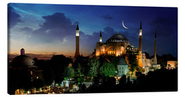 Lienzo  View of Hagia Sophia after sunset