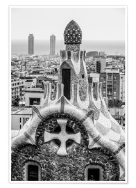 Póster  Impressive architecture and mosaic art at Park Guell