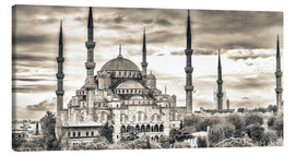 Lienzo  Blue mosque in sepia