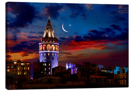 Lienzo  Illuminated Galata Tower