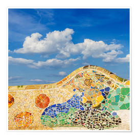 Póster  Mosaic in the Park Güell