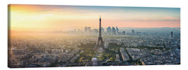 Lienzo  Paris skyline with Eiffel tower at sunset - Jan Christopher Becke