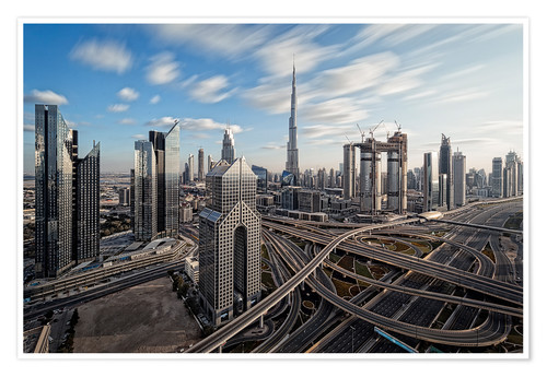 Póster Dubai City Long Exporsure