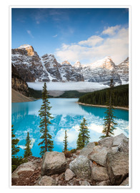 Póster Autumn at Moraine lake, Canada