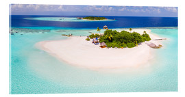 Cuadro de metacrilato  Aerial view of island in the Maldives - Matteo Colombo