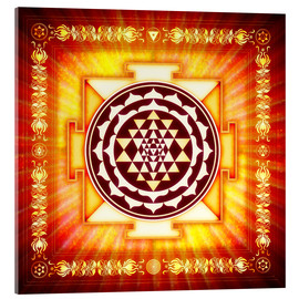 Cuadro de metacrilato  Sri Yantra Energy Light - Dirk Czarnota