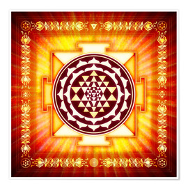 Póster Sri Yantra Energy Light