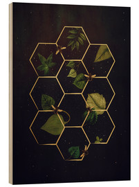 Cuadro de madera  bees in space - Sybille Sterk
