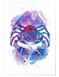 Póster Psychedelic Crab