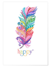 Póster  Happy (inglés) - MiaMia
