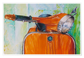 Póster Vespa orange