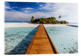 Cuadro de metacrilato  Jetty to tropical island, Maldives - Matteo Colombo