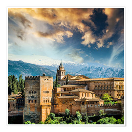 Póster View of the famous Alhambra