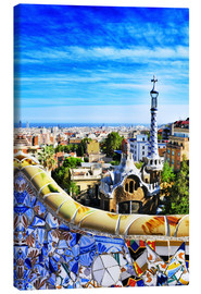 Lienzo  Park Guell in Barcelona