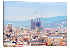 Lienzo  Barcelona with the Cathedral of Gaudí