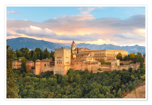 Póster Alhambra with Comares tower