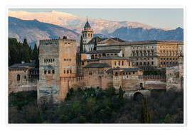 Póster  Alhambra palace in Granada