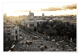 Póster  The city of Madrid in Spain