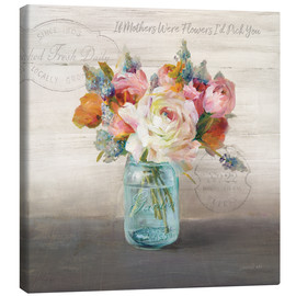 Lienzo  41686 18x18HR French Cottage Bouquet II Mothers - Danhui Nai