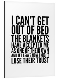 Cuadro de aluminio  I can't get out of bed - Creative Angel