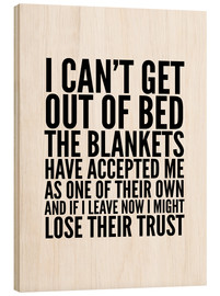 Cuadro de madera  I can't get out of bed - Creative Angel
