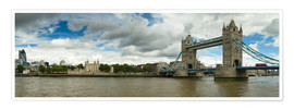 Póster  Panorama Tower Bridge and Tower of London - Circumnavigation