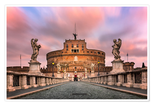 Póster Ponte Sant'Angelo and Castel Sant'Angelo