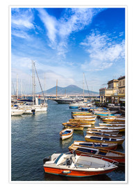 Póster  Port of Naples and Mount Vesuvius