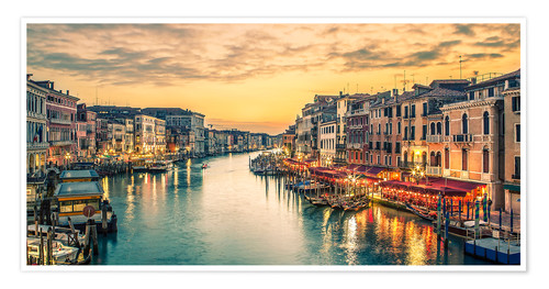 Póster Grand Canal at the blue hour
