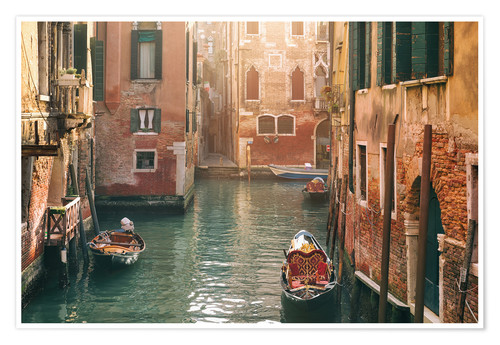 Póster Canal in Venice