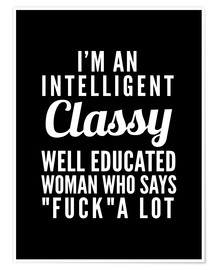 Póster Intelligent, classy, well educated woman