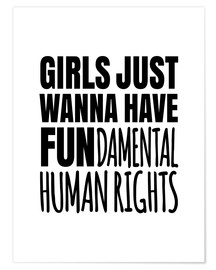 Póster  Girls Just Wanna Have Fundamental Human Rights - Creative Angel
