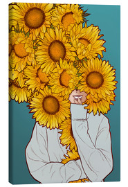 Lienzo  Happy Sunflowers - Paola Morpheus