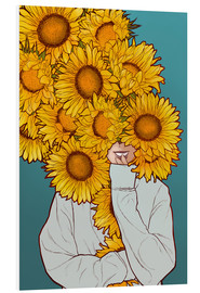Cuadro de PVC  Happy Sunflowers - Paola Morpheus