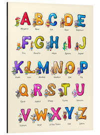 Cuadro de aluminio  English ABC for Children - Elena Schweitzer